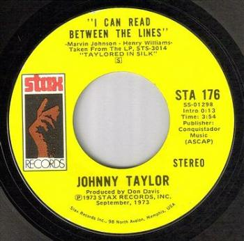 JOHNNY TAYLOR - I CAN READ BETWEEN THE LINES - STAX