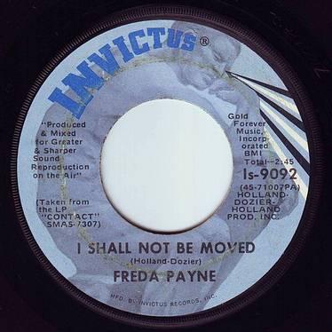 FREDA PAYNE - I SHALL NOT BE MOVED - INVICTUS