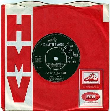 KENNY LYNCH - FOR LOVIN' YOU BABY - HMV