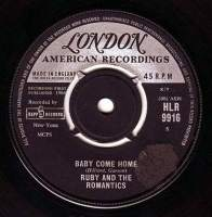 RUBY & THE ROMANTICS - BABY COME HOME - LONDON