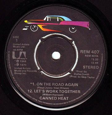 CANNED HEAT - ON THE ROAD AGAIN - UA EP