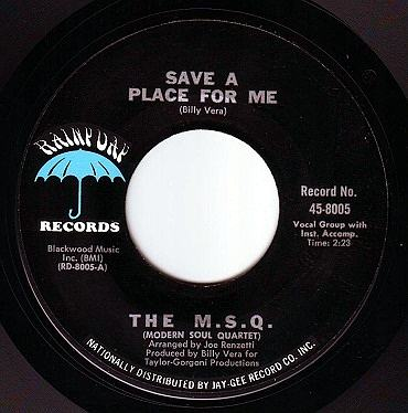 M.S.Q. - SAVE A PLACE FOR ME - RAINY DAY