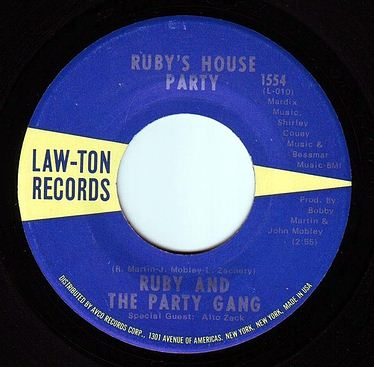 RUBY & THE PARTY GANG - RUBY'S HOUSE PARTY - LAW-TON