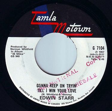 EDWIN STARR - GONNA KEEP ON TRYIN' TILL I WIN YOUR LOVE - TAMLA MOTOWN