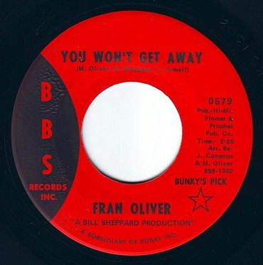 FRAN OLIVER - YOU WON'T GET AWAY - BBS