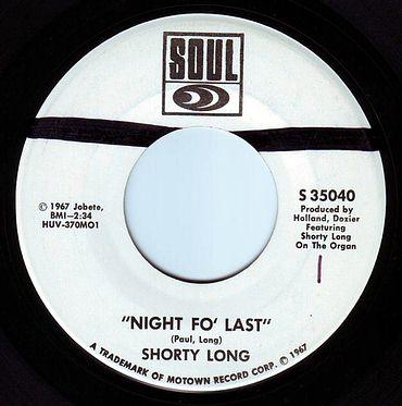 SHORTY LONG - NIGHT FO' LAST - SOUL DEMO