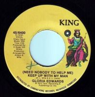 GLORIA EDWARDS - KEEP UP WITH MY MAN - KING