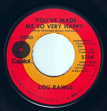 LOU RAWLS - YOU'VE MADE ME SO VERY HAPPY - CAPITOL