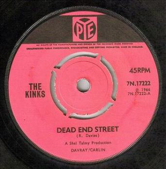 KINKS - DEAD END STREET - PYE