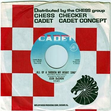 JEAN DuSHON - ALL OF A SUDDEN MY HEART SINGS - CADET