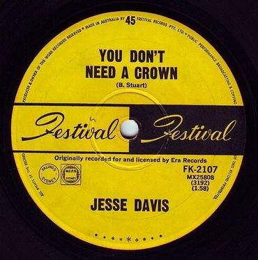 JESSE DAVIS - YOU DON'T NEED A CROWN - FESTIVAL