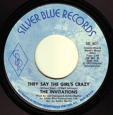 INVITATIONS - THEY SAY THE GIRLS CRAZY - SILVER BLUE