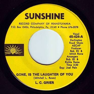L.C. GRIER - GONE IS THE LAUGHTER OF YOU - SUNSHINE