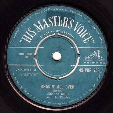 JOHNNY KIDD & THE PIRATES - SHAKIN' ALL OVER - HMV