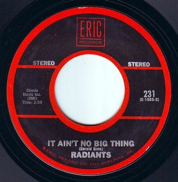 RADIANTS - IT AIN'T NO BIG THING - ERIC