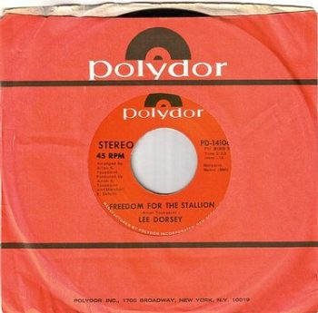 LEE DORSEY - FREEDOM FOR THE STALLION - POLYDOR dj