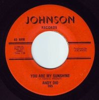 ANDY DIO - YOU ARE MY SUNSHINE - JOHNSON