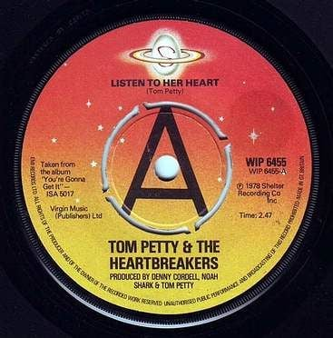 TOM PETTY & THE HEARTBREAKERS - LISTEN TO HER HEART - SHELTER DEMO