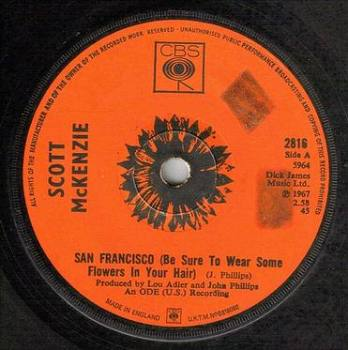SCOTT McKENZIE - SAN FRANCISCO - CBS