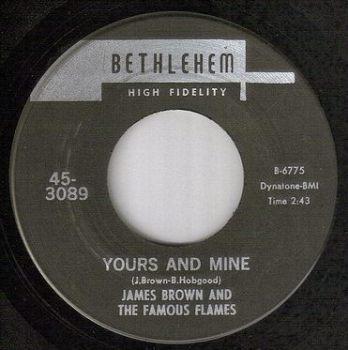 JAMES BROWN - YOURS AND MINE (INSTR) - BETHLEHEM