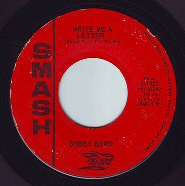 BOBBY BYRD - WRITE ME A LETTER - SMASH