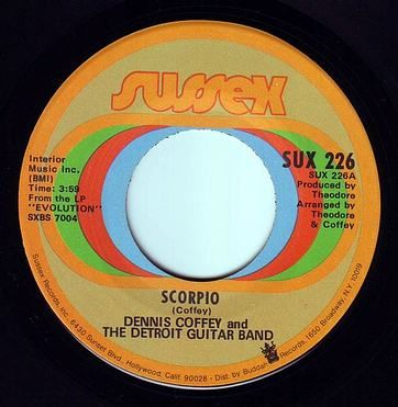DENNIS COFFEY & THE DETROIT GUITAR BAND - SCORPIO - SUSSEX