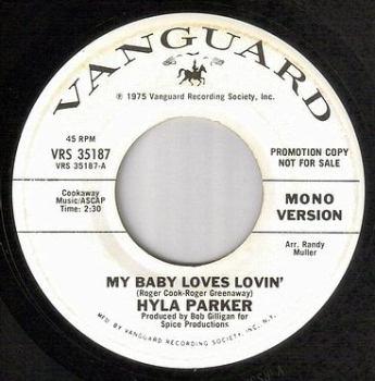 HYLA PARKER - MY BABY LOVES LOVIN' - VANGUARD dj