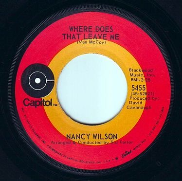 NANCY WILSON - WHERE DOES THAT LEAVE ME - CAPITOL