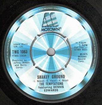TEMPTATIONS - SHAKEY GROUND - TMG 1063