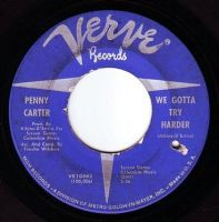 PENNY CARTER - WE GOTTA TRY HARDER - VERVE
