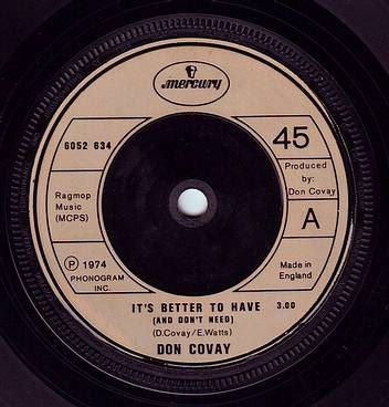 DON COVAY - IT'S BETTER TO HAVE (AND DON'T NEED) - MERCURY