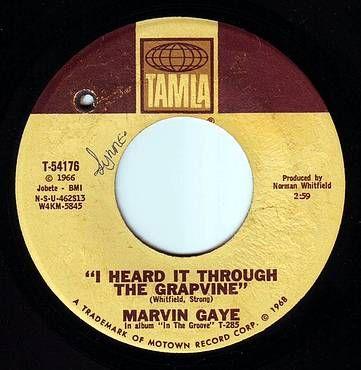 MARVIN GAYE - I HEARD IT THROUGH THE GRAPEVINE - TAMLA