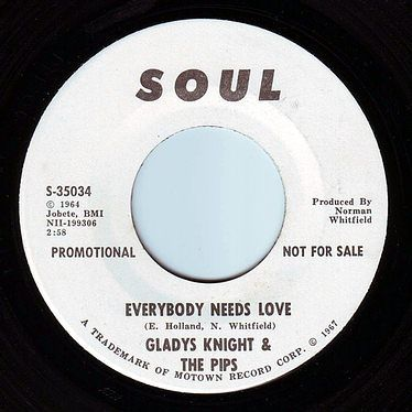 GLADYS KNIGHT & THE PIPS - EVERYBODY NEEDS LOVE - SOUL DEMO