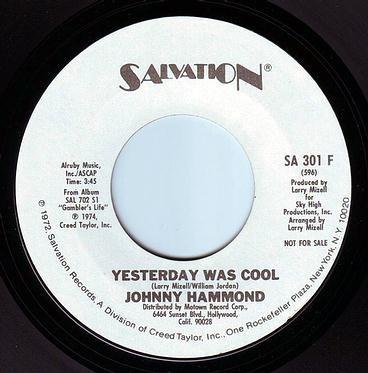 JOHNNY HAMMOND - YESTERDAY WAS COOL - SALVATION DEMO