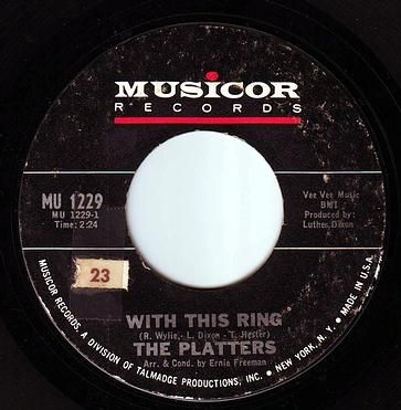 PLATTERS - WITH THIS RING - MUSICOR