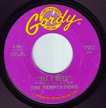 TEMPTATIONS - ALL I NEED - GORDY