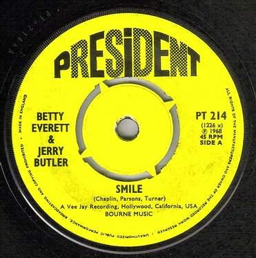 BETTY EVERETT & JERRY BUTLER - SMILE - PRESIDENT