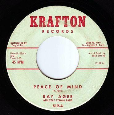RAY AGEE - PEACE OF MIND - KRAFTON