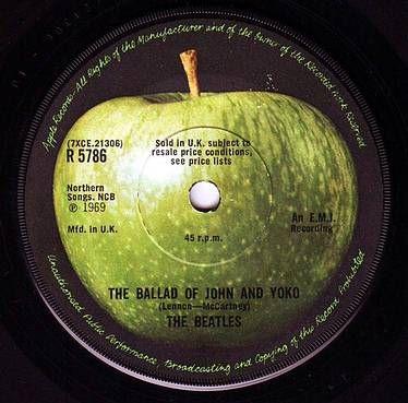 BEATLES - THE BALLAD OF JOHN AND YOKO - APPLE