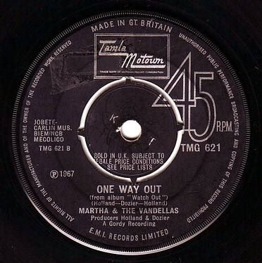 MARTHA & THE VANDELLAS - ONE WAY OUT - TAMLA MOTOWN
