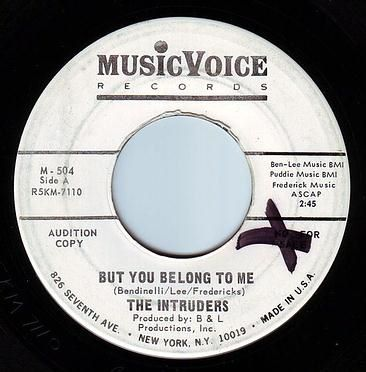 INTRUDERS - BUT YOU BELONG TO ME - MUSIC VOICE DEMO