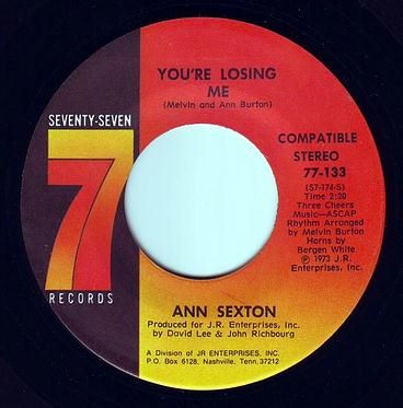 ANN SEXTON - YOU'RE LOSING ME - SEVENTY SEVEN