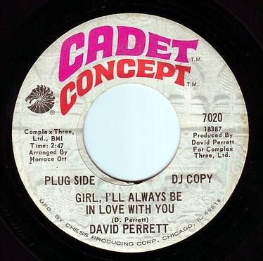 DAVID PERRETT - GIRL, I'LL ALWAYS BE IN LOVE WITH YOU - CADET CONCEPT DEMO