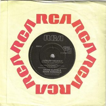 DAVID RUFFIN & EDDIE KENDRICK - I COULDN'T BELIEVE IT - RCA