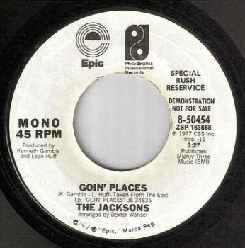 JACKSONS - GOIN' PLACES - EPIC/PIR dj