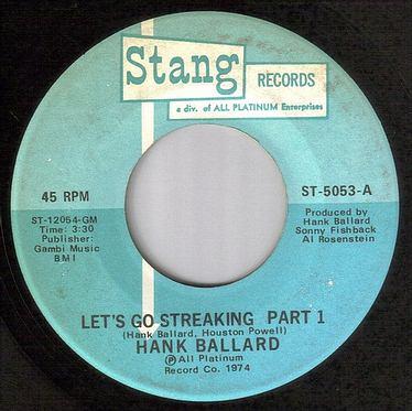 HANK BALLARD - LET'S GO STREAKING - STANG