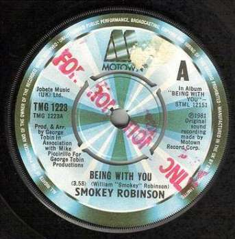 SMOKEY ROBINSON - BEING WITH YOU - TMG 1223