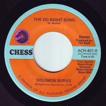 SOLOMON BURKE - THE DO RIGHT SONG - CHESS