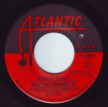 ARETHA FRANKLIN - WHOLY HOLY - ATLANTIC