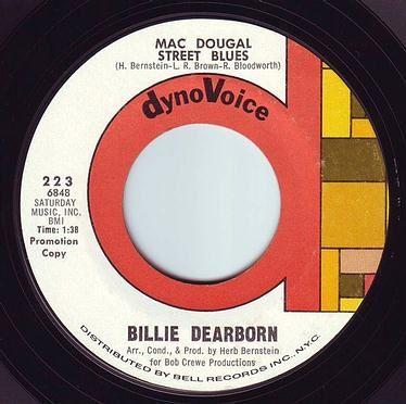 BILLIE DEARBORN - MAC DOUGAL STREET BLUES - DYNOVOICE DEMO